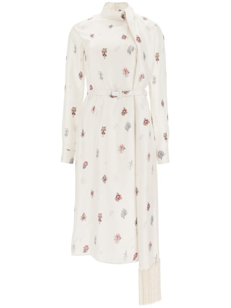 Gabriela Hearst Kelley Silk Dress - HAND DRAWN FLOWER (White)