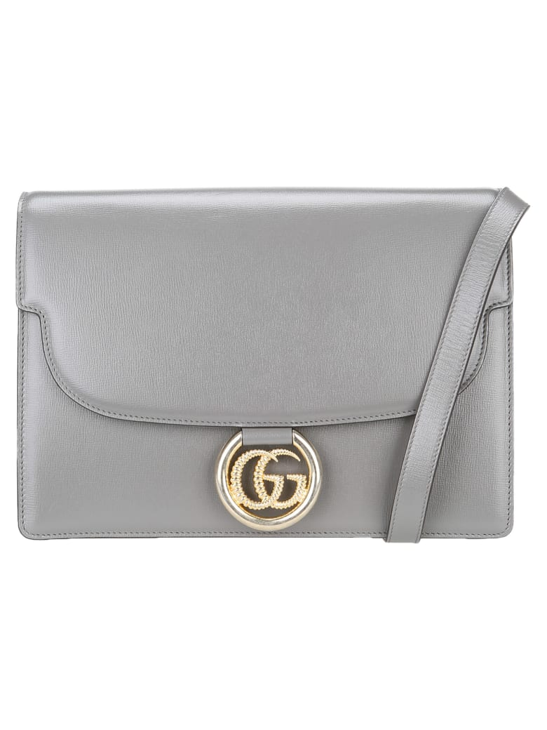 Gucci Gg Ring Shoulder Bag - GREY