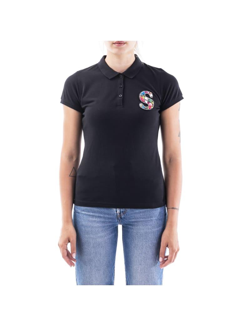 Sun 68 Sun68 Blend Cottn Polo Shirt - BLACK