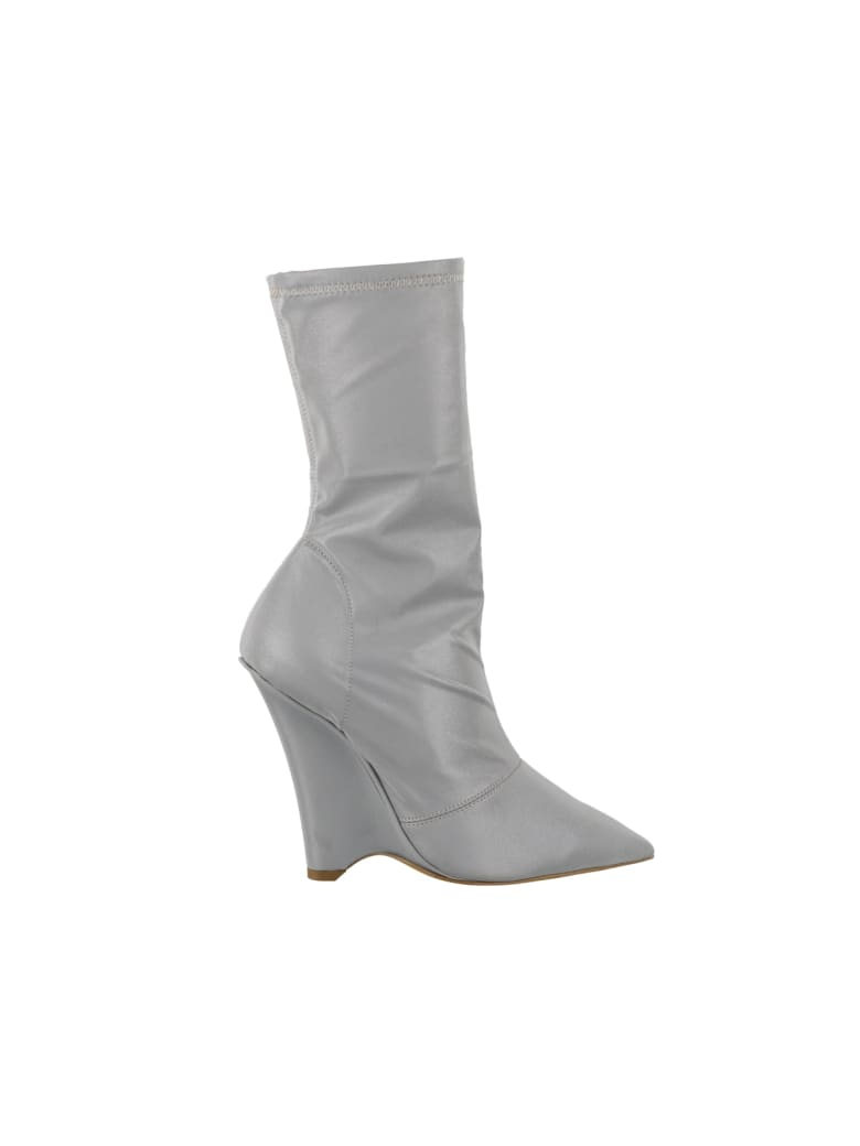 Yeezy Wedged Ankle Boot - Silver