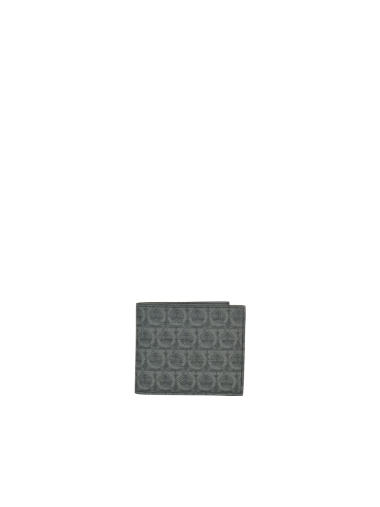 Salvatore Ferragamo Gancini Wallet - Black/grey