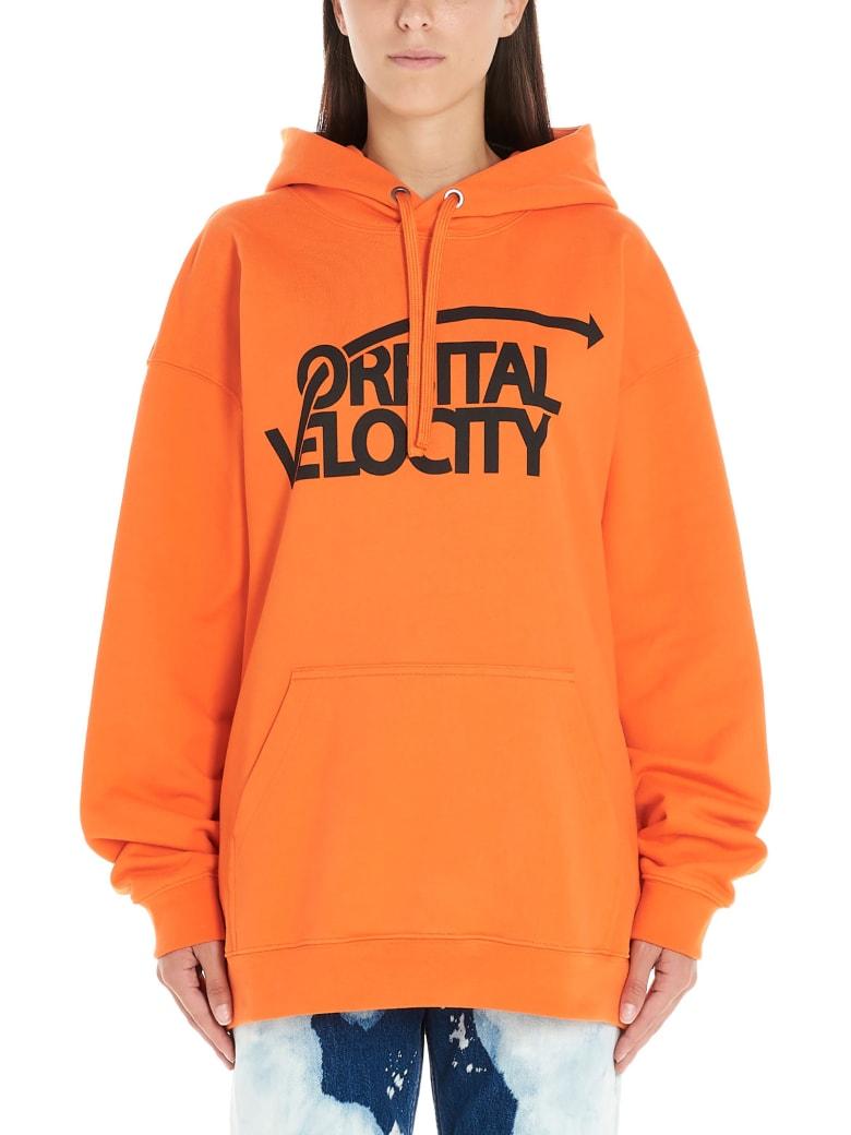 Calvin Klein 'graphic' Hoodie - Orange