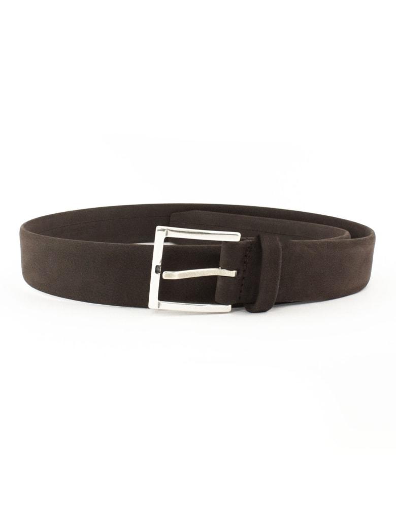 Orciani Classic Brown Nubuck Belt - Testa Di Moro