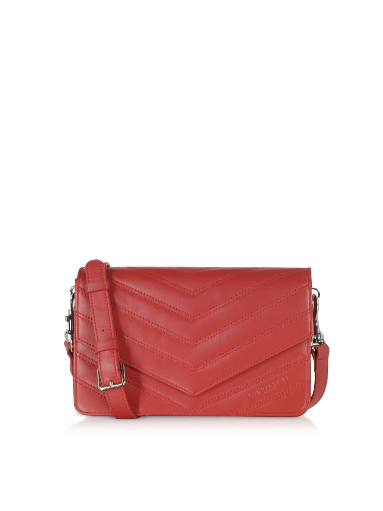 Lancaster Paris Parisienne Matelasse Leather Shoulder Bag - Red