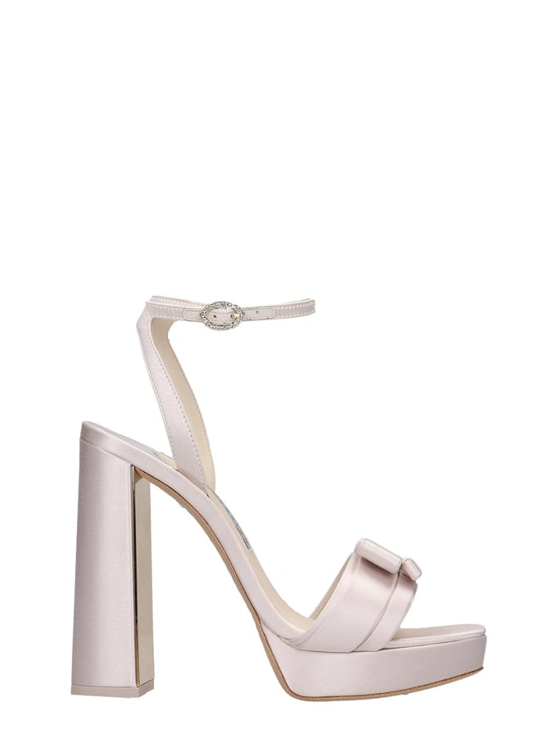 Sophia Webster Andie Bow  Sandals In White Satin - white