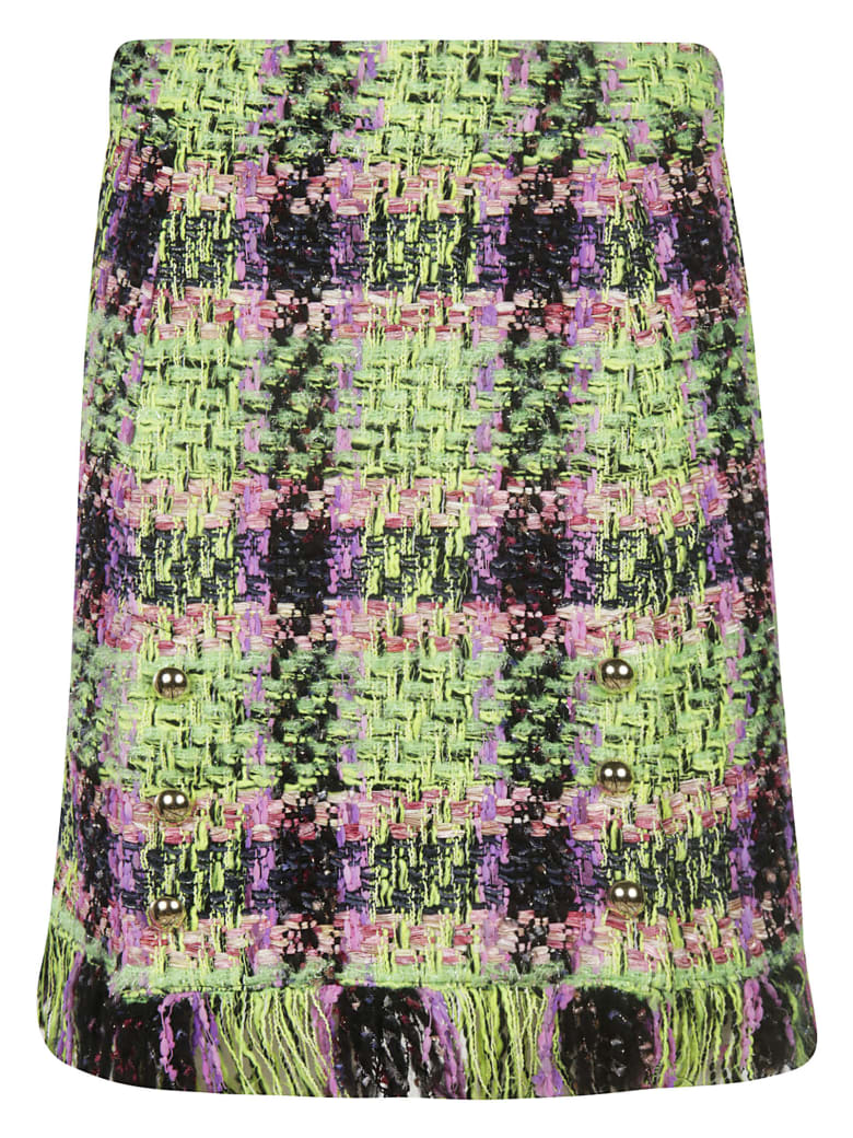 Blumarine Fringed Skirt - multicolored