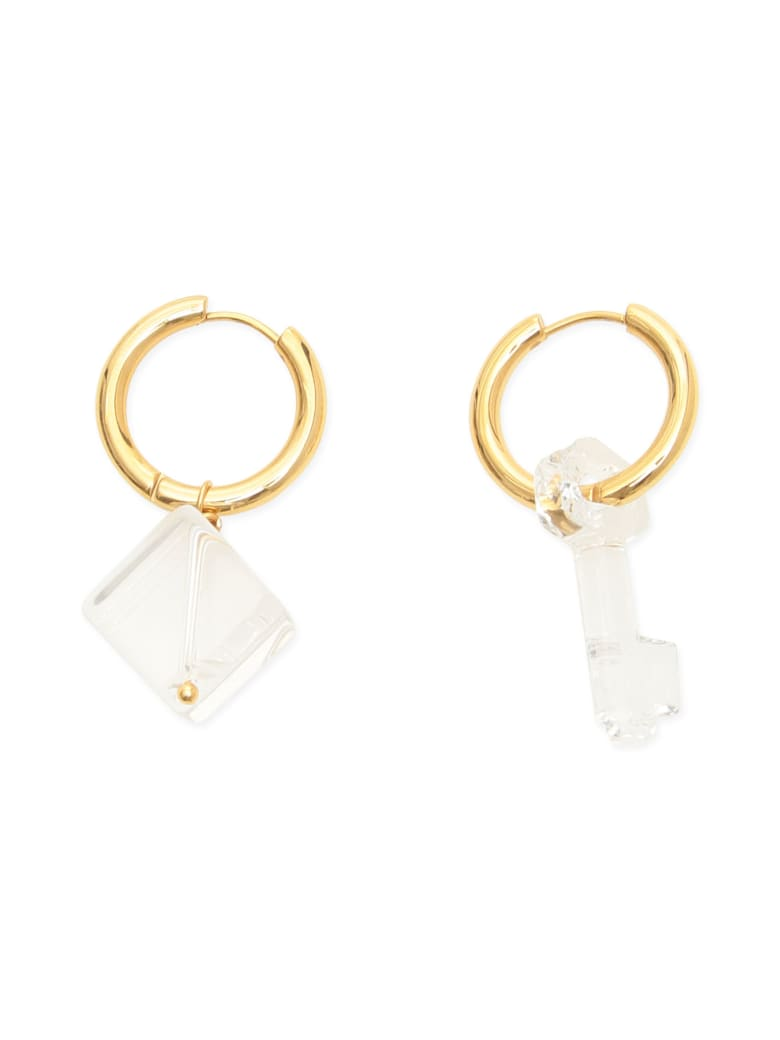 Timeless Pearly Mismatched Earrings - GOLD TRASPARENT (Gold)