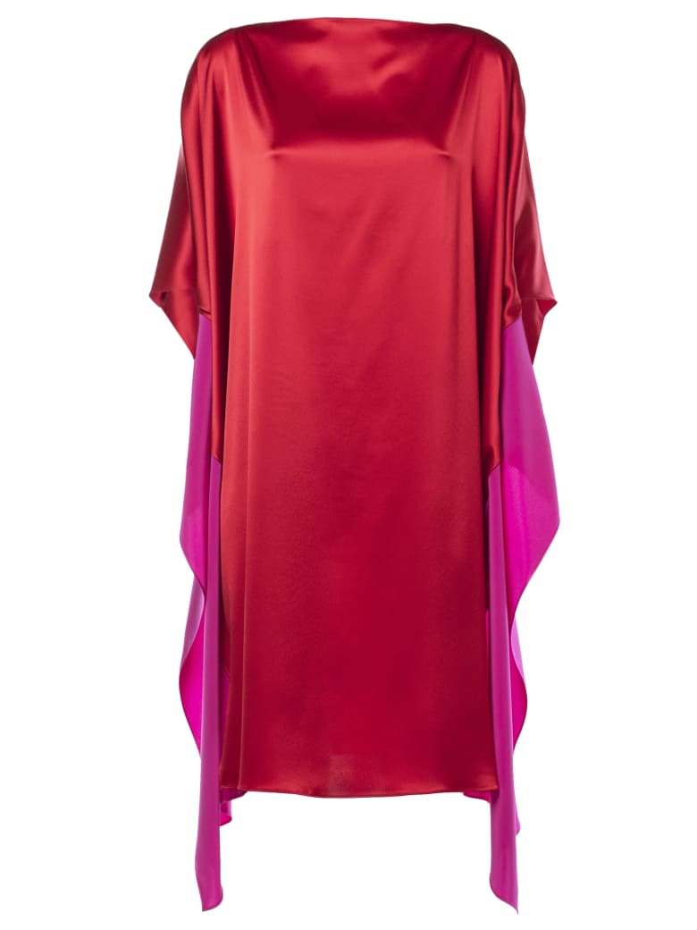 Gianluca Capannolo Shortsleeved Shift Dress - Fuchsia/Red