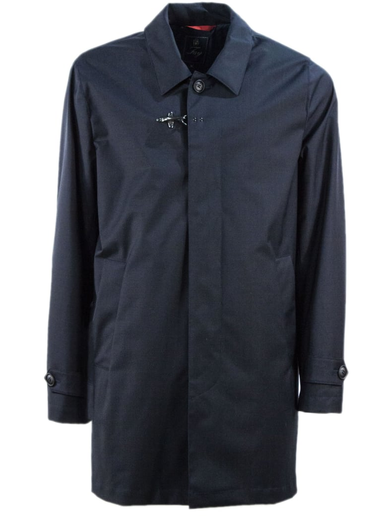 Fay Dark Blue Travel Raincoat - Blu Scuro