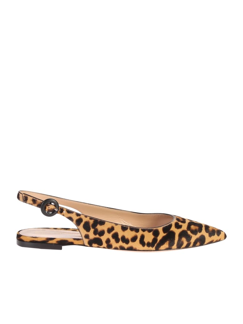 Gianvito Rossi Leopard Print Shoes - Brown