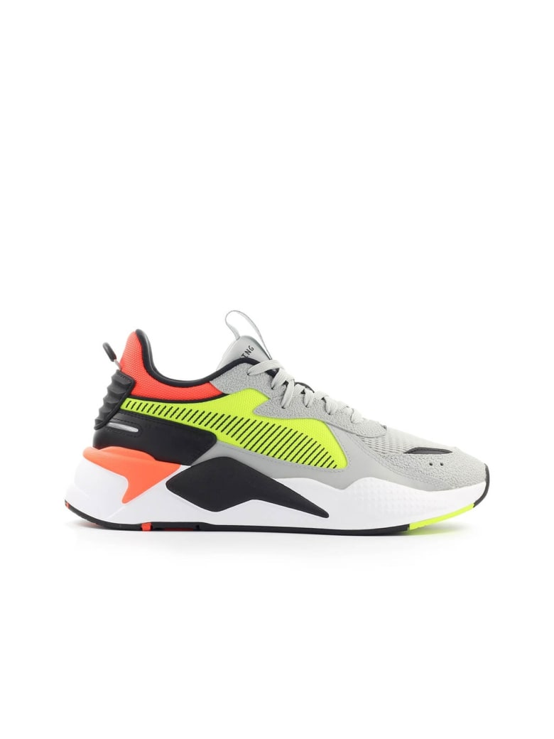 Best price on the market at italist | Puma Puma Rs-x Hard Drive Grey Orange  Neon Yellow Sneaker