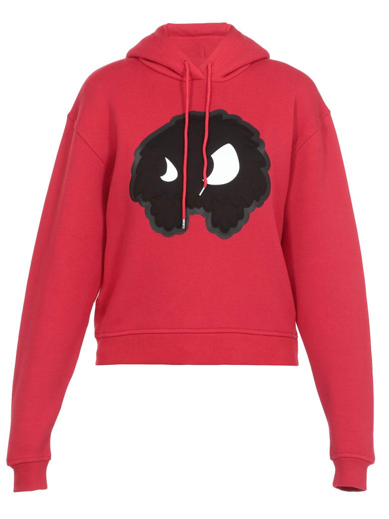 McQ Alexander McQueen Monster Print Sweatshirt - CRIMSON