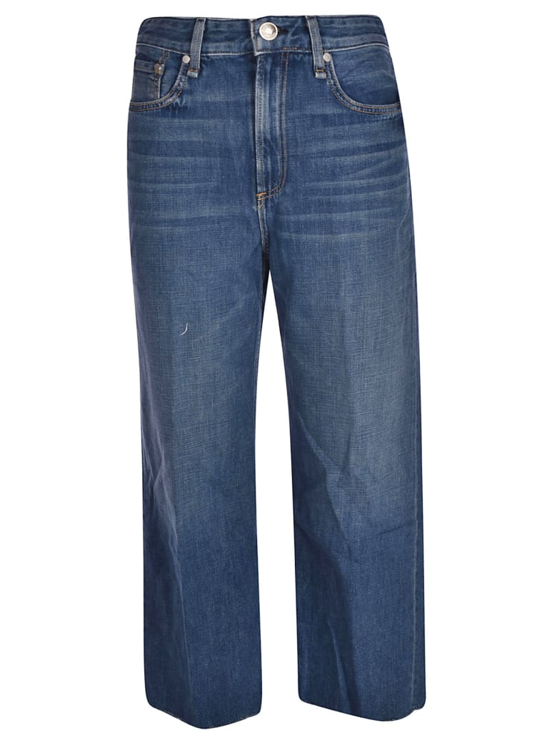 Rag & Bone Wide Leg Jeans - Denim