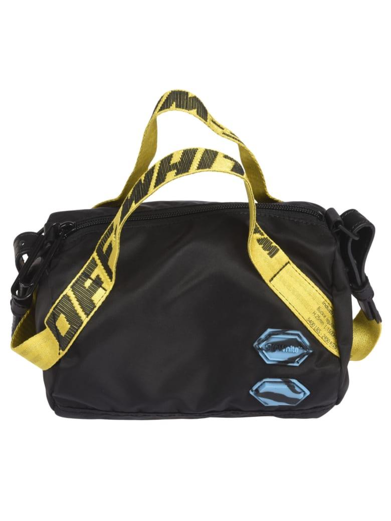 Off-White Patch Detail Nylon Duffle Bag - Black