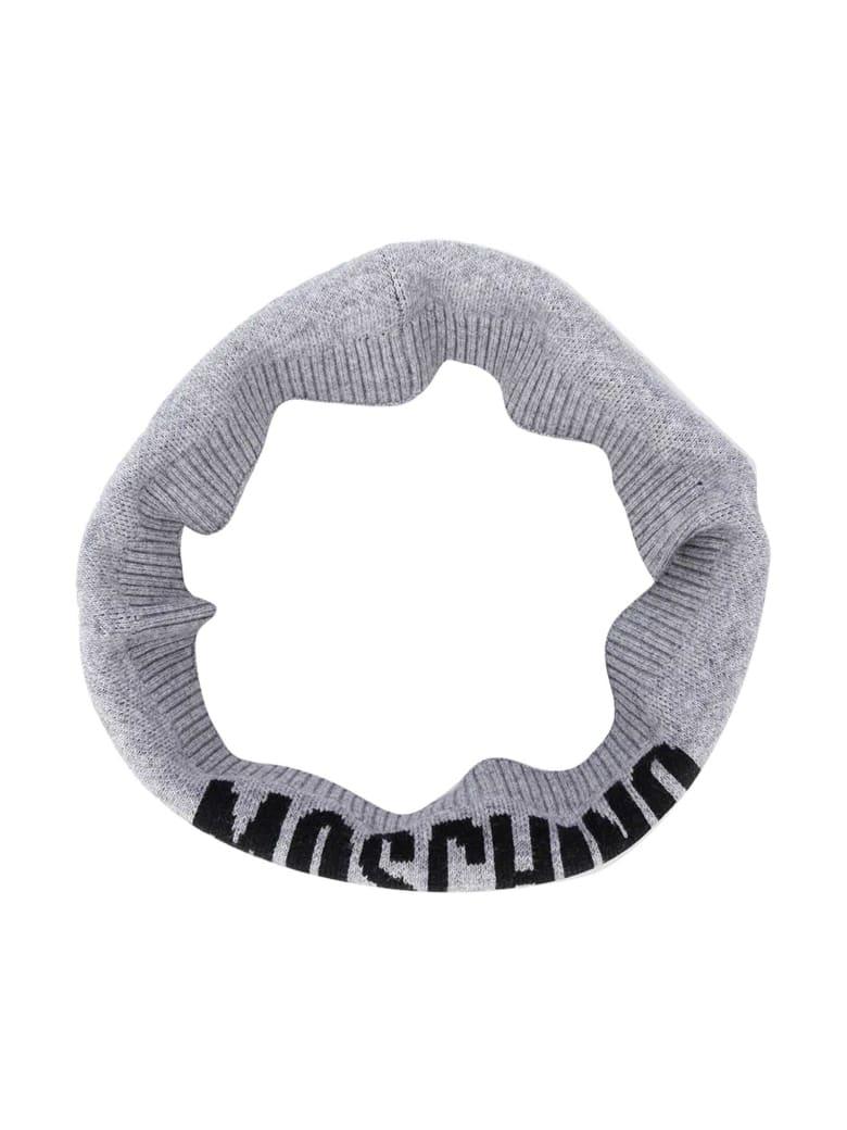 Moschino Grey Neckwarmer With Logo Press - Grigio
