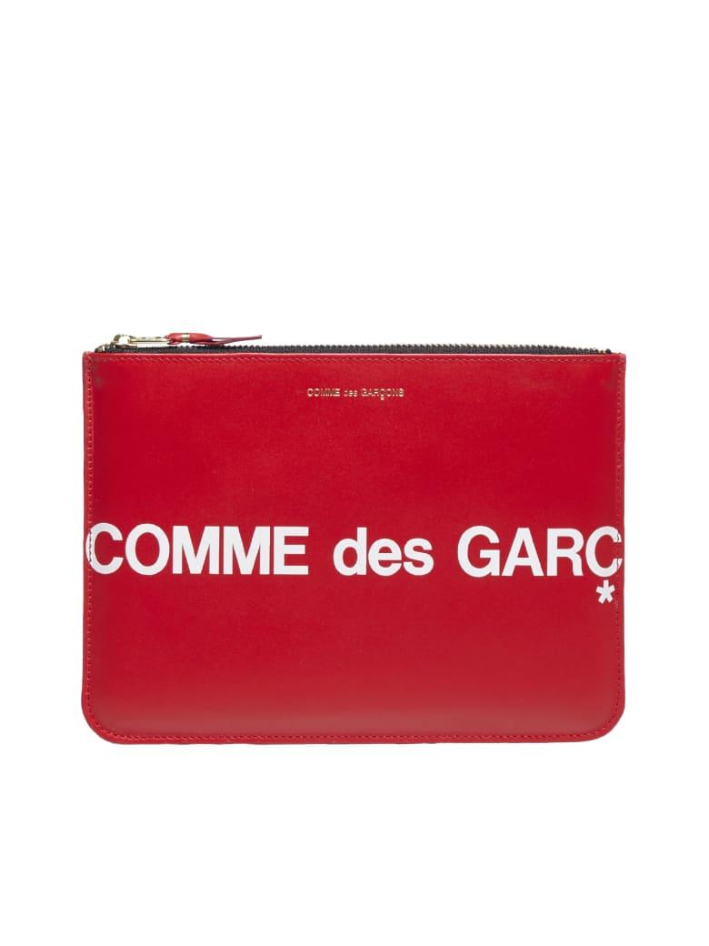 Comme des Garçons Wallet Huge Logo Clutch - Red