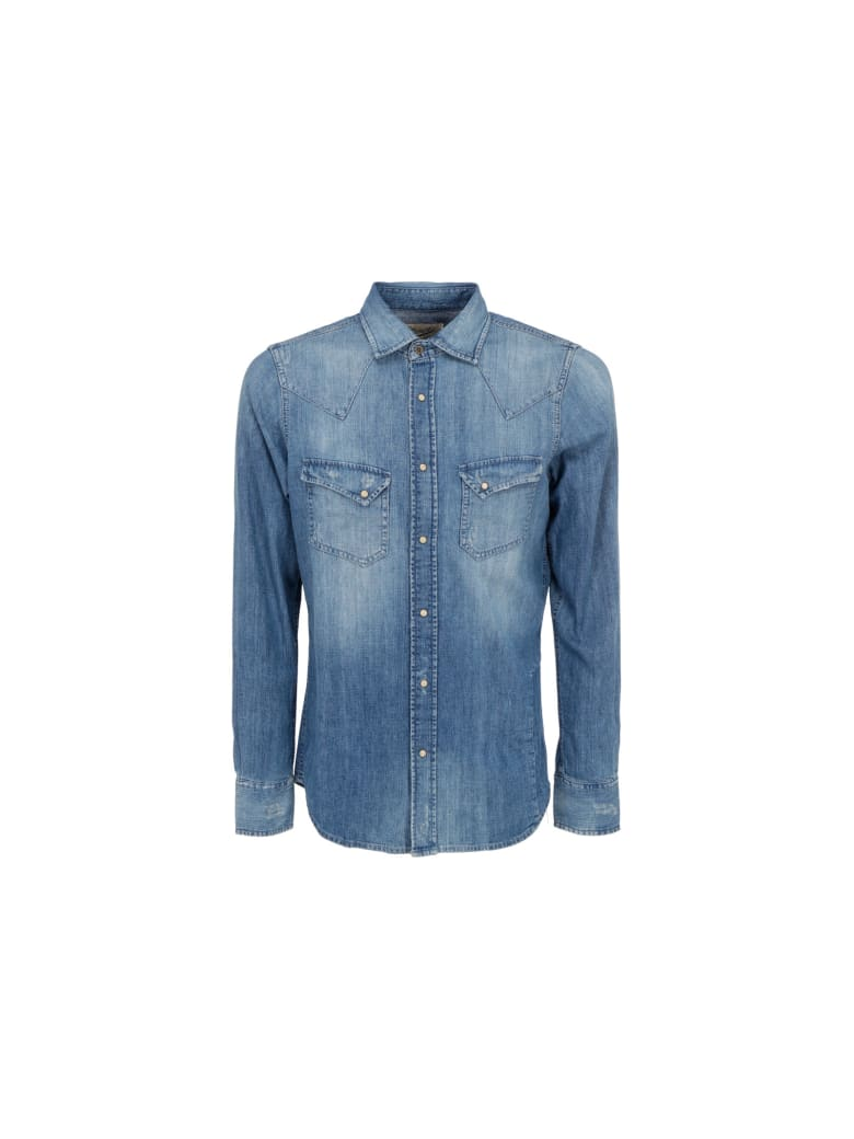 Pence Biagio Shirt - Denim blu stonewash forte