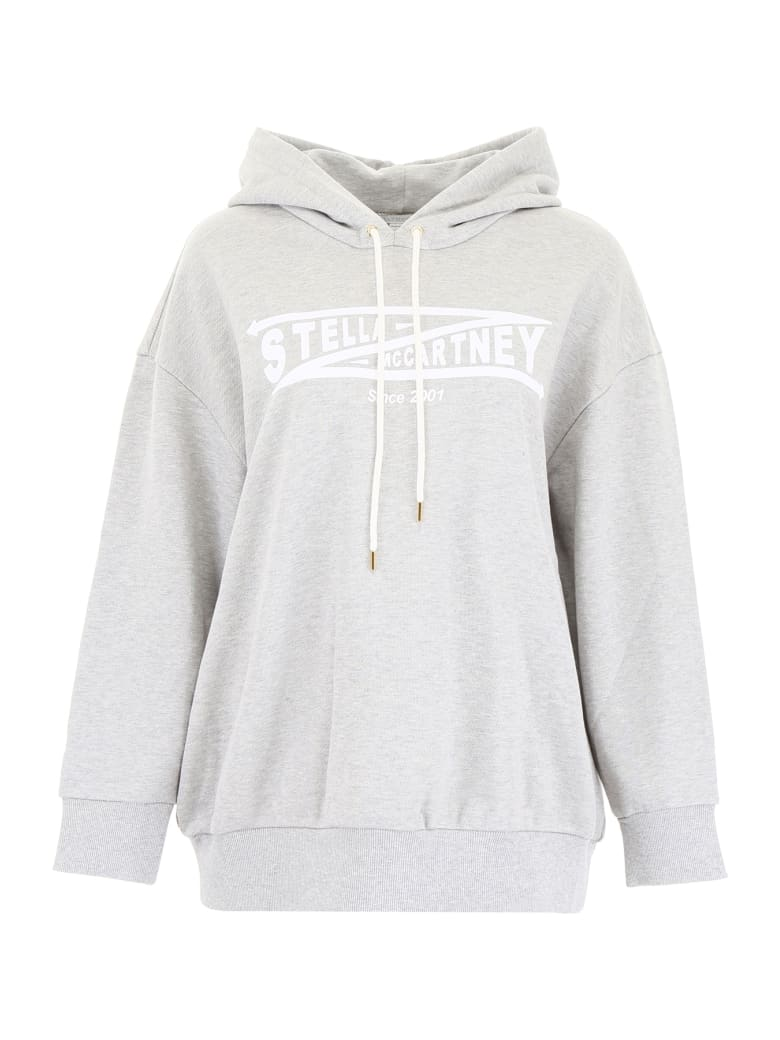Stella McCartney Logo Hoodie - GREY MELANGE (Grey)