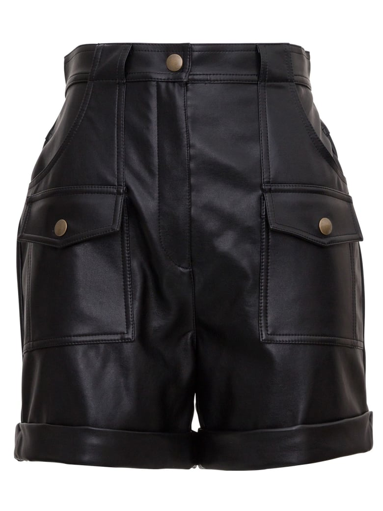 Philosophy di Lorenzo Serafini Leatheret Shorts - Black