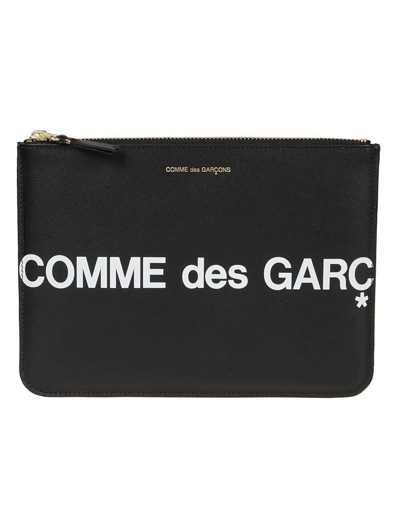 Comme des Garçons Wallet Huge Logo - Black