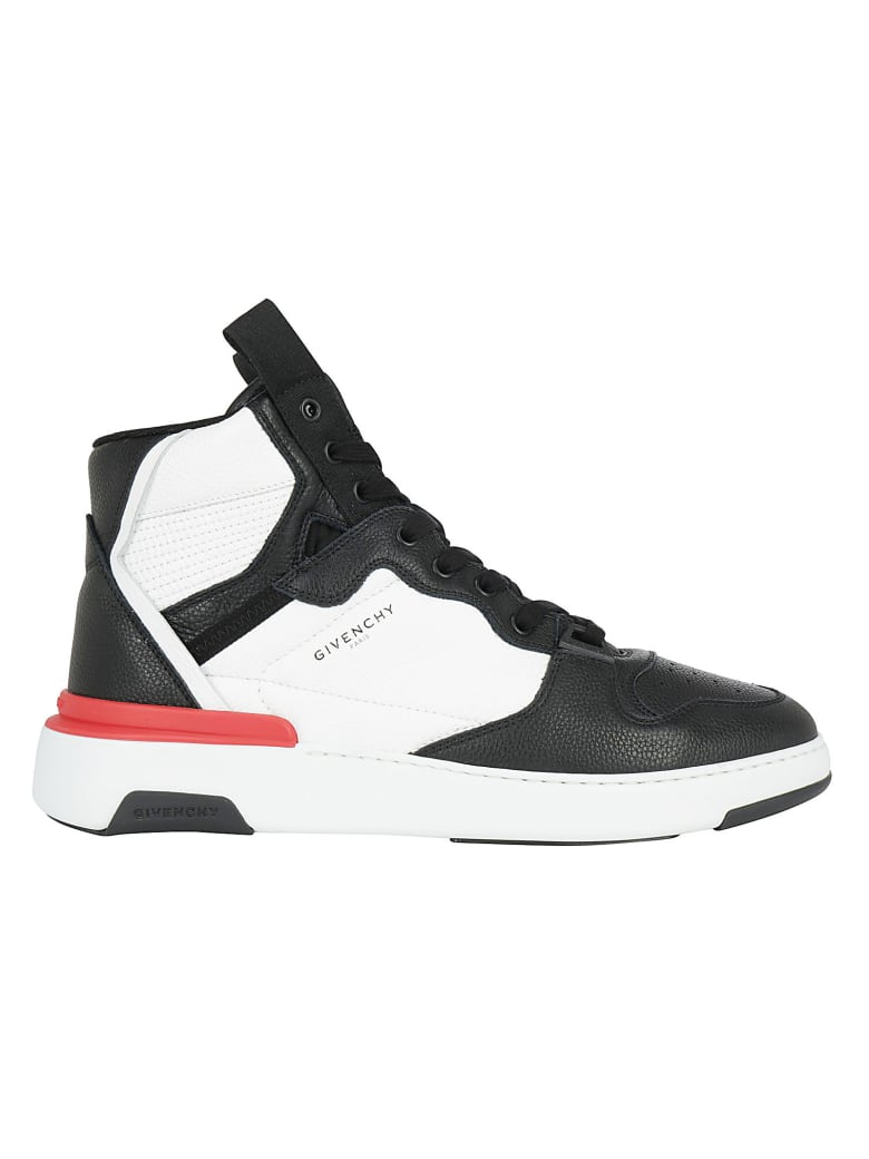 Givenchy Wing High Basket Sneakers - Black/white