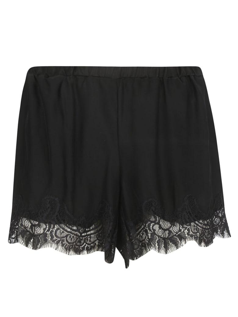 Gold Hawk Lace Hem Shorts - Black
