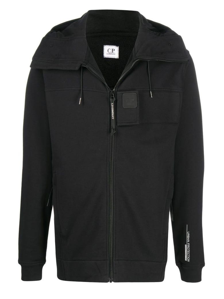 C.P. Company Black Cotton Hoodie - Nero