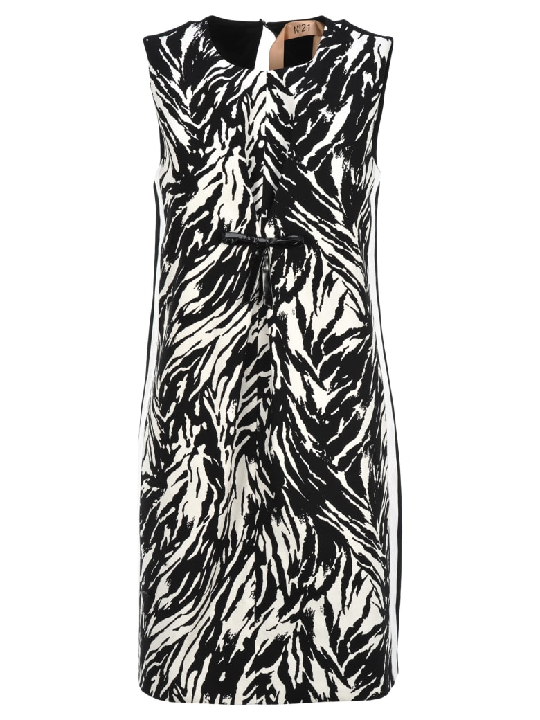 N.21 N21 Zebra Pattern Dress - ZEBRA WHITE