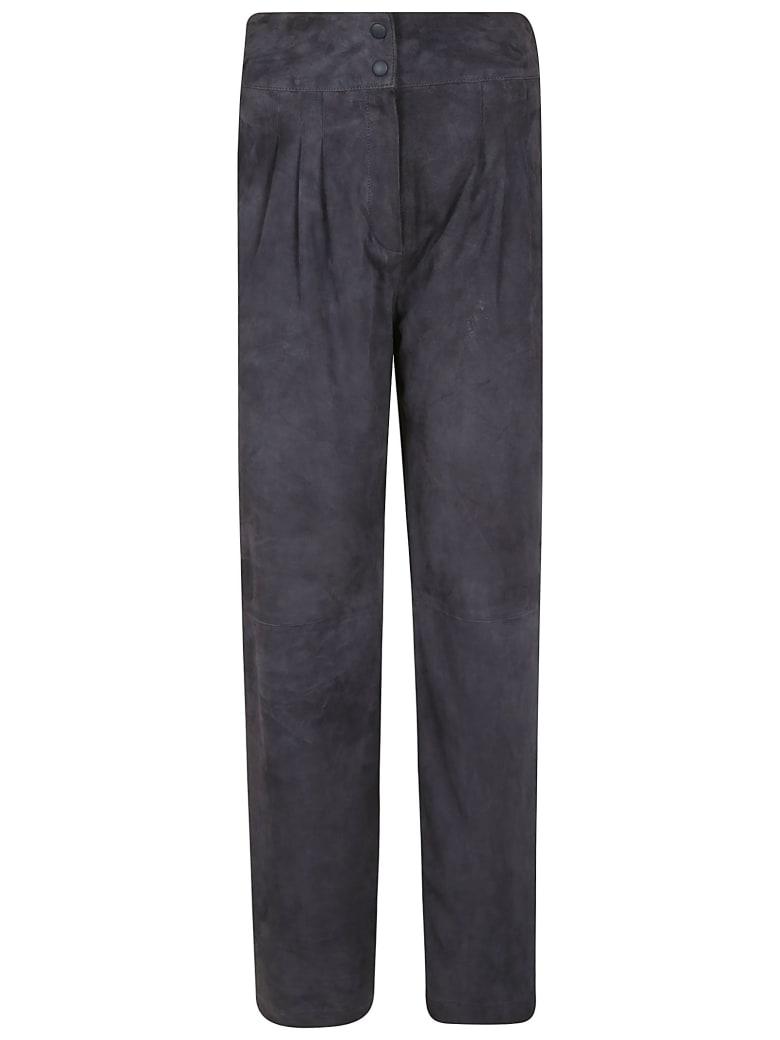 Alberta Ferretti High-waist Straight Leg Trousers - Grey