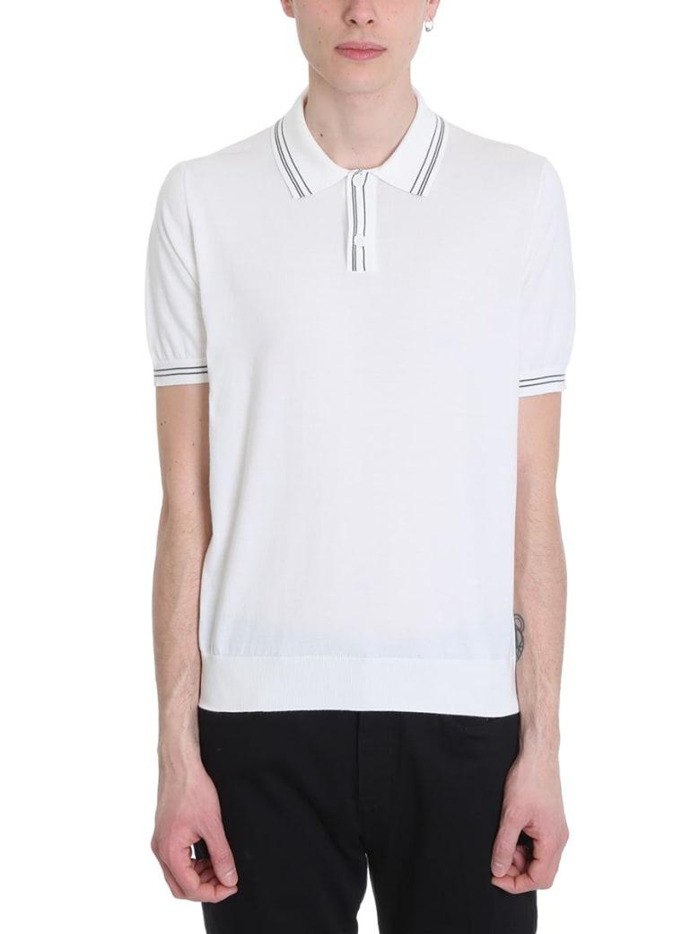 Ermenegildo Zegna White Cotton Polo - white