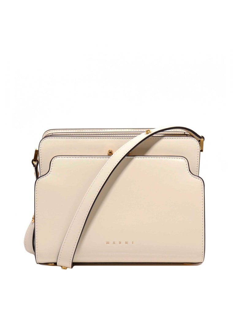 Marni Trunk Reverse Shoulder Bag - White