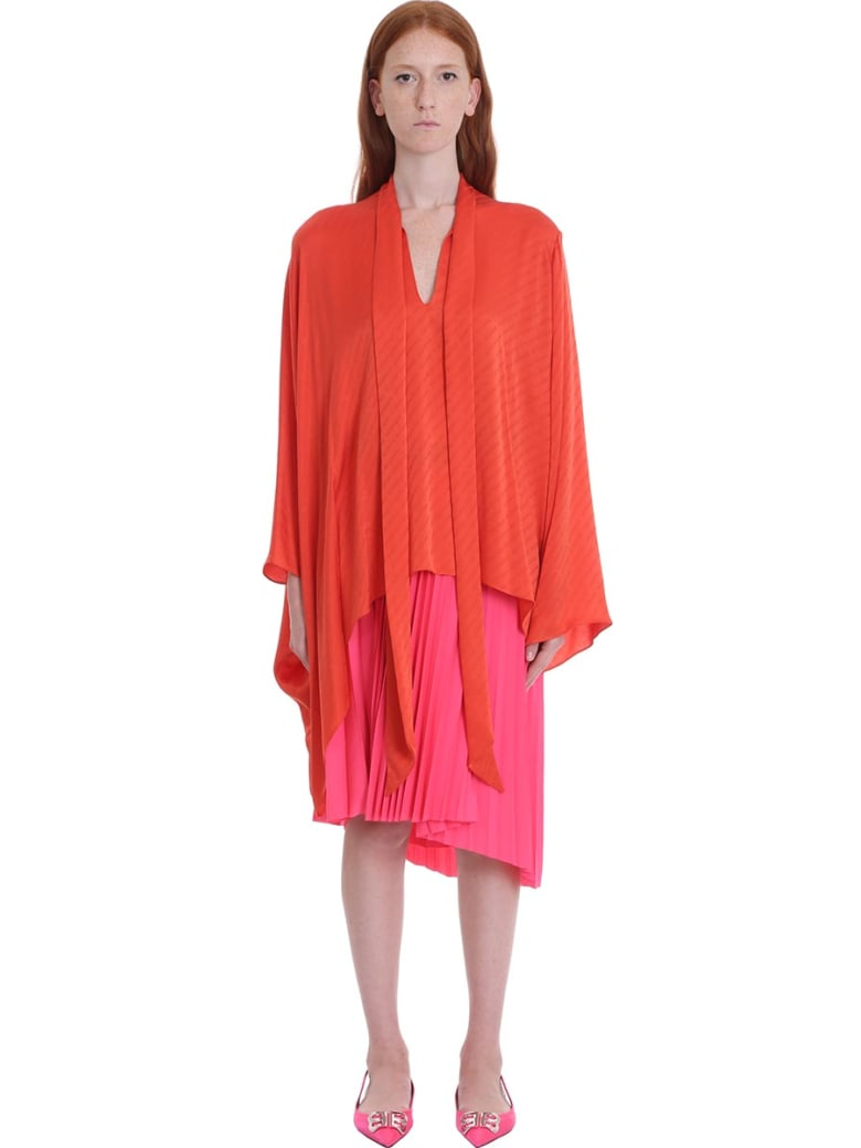 Balenciaga Blouse In Red Silk - red