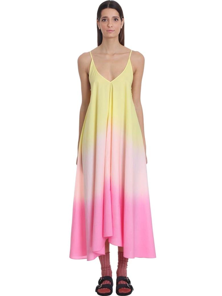 Alanui Cali Shades  Dress In Rose-pink Organza - rose-pink