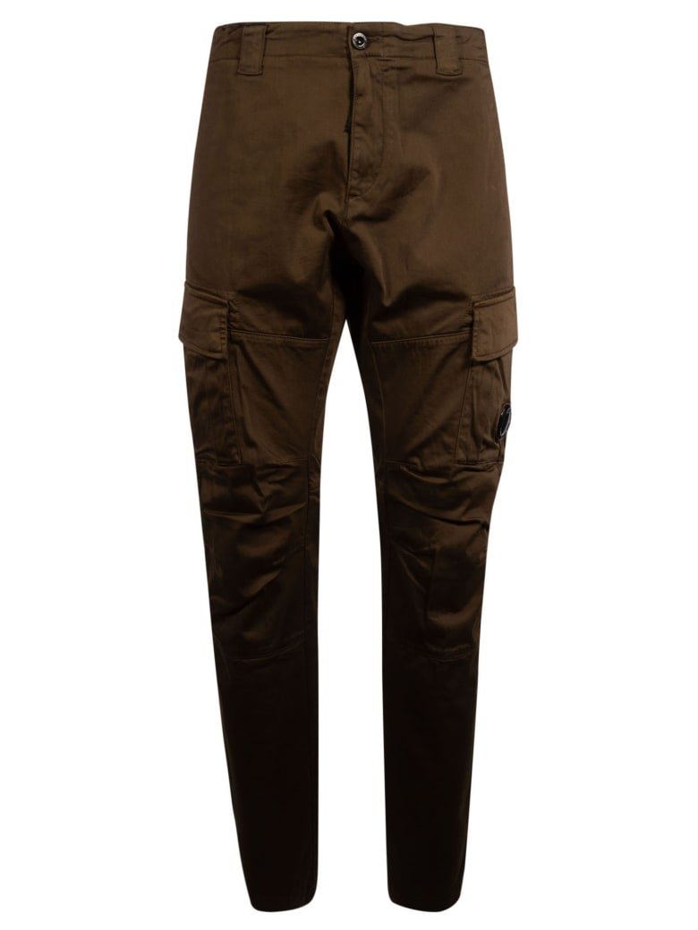 C.P. Company Side Cargo Pocket Trousers - Brown