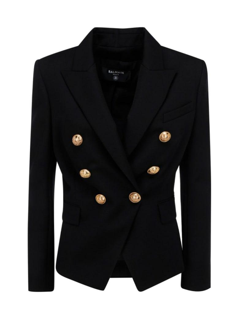 Balmain 6 Btn Grain De Poudre Jacket - Pa Noir