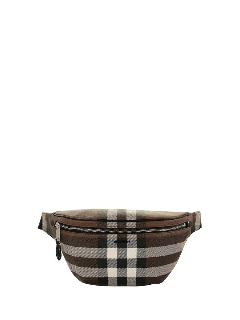 Burberry Cason - Check E-canvas Bum Bag - Dark Birch Brown
