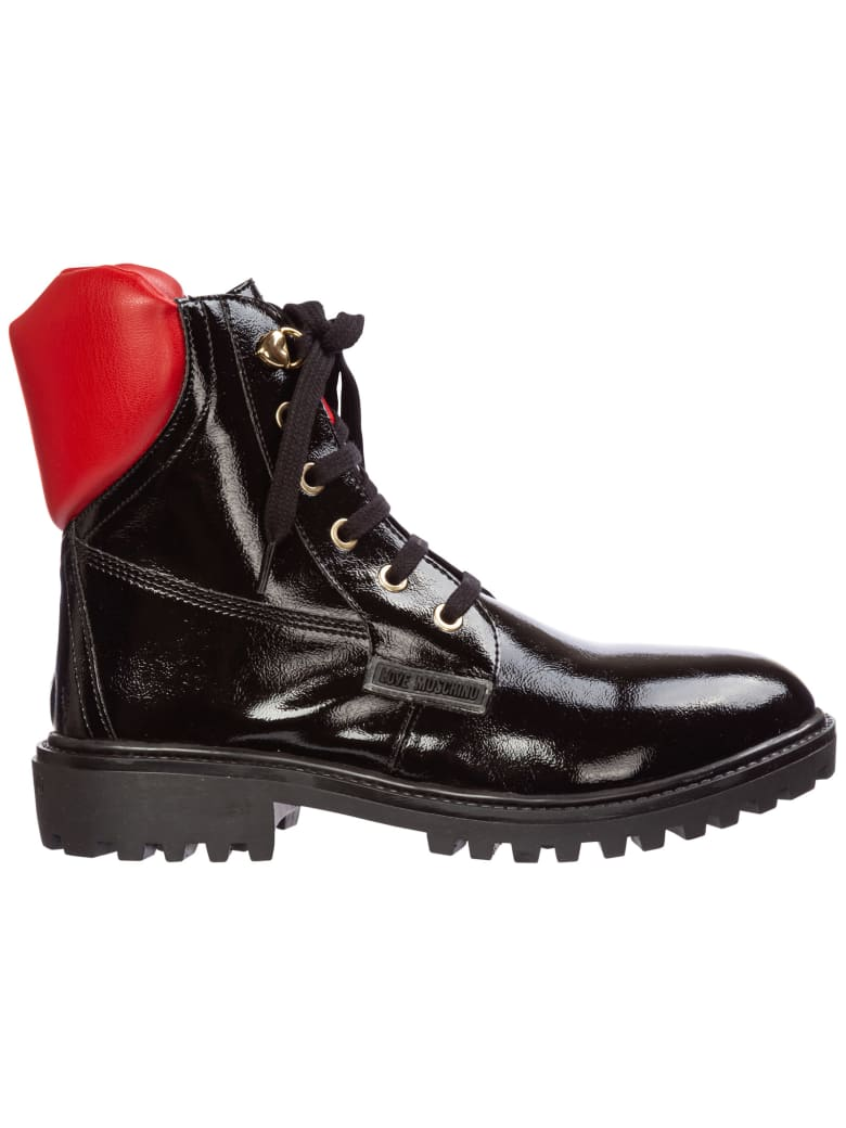 Love Moschino Midi Platform Ankle Boots - Nero