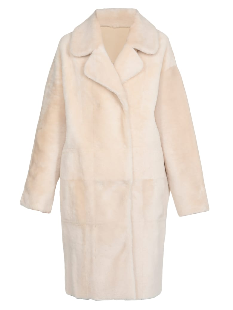 DROMe Leather Coat - CREAM
