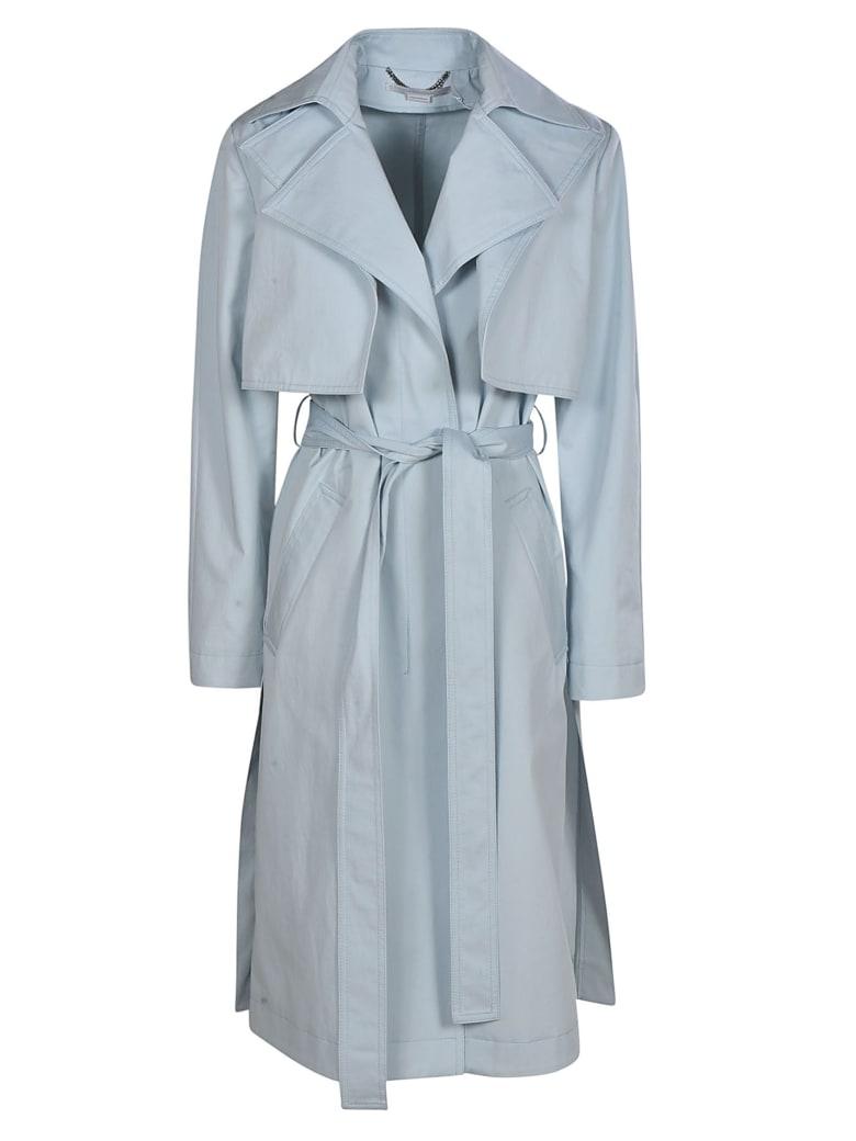 Stella McCartney Belted Long Coat - sky blue