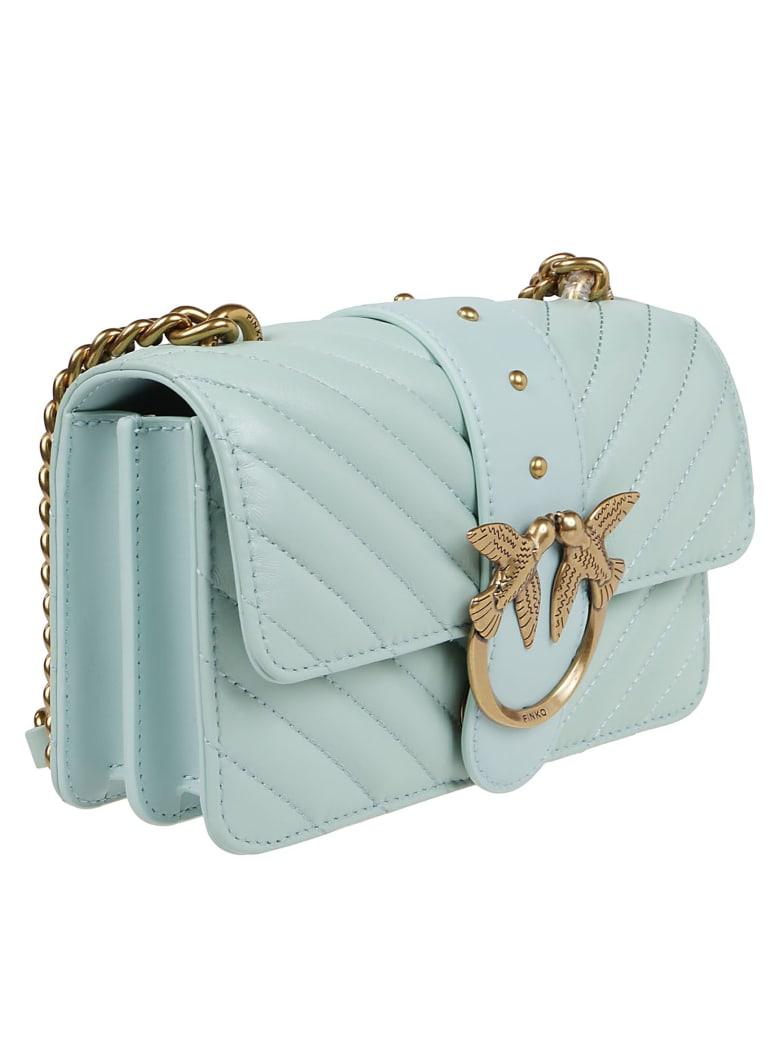 Pinko Green Leather Bag - Green
