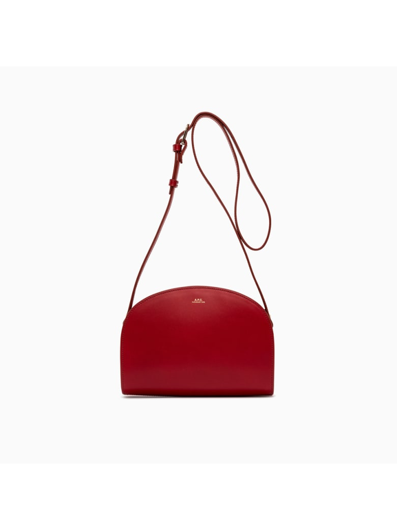 A.P.C. sac Demi Lune Bag Pxawv-f61048 - ROUGE