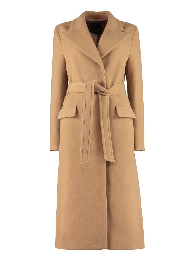 Pinko Martini 5 Belted Coat - Camel