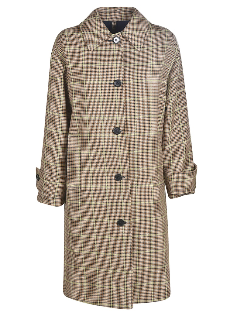 MSGM Oversized Checked Coat - beige