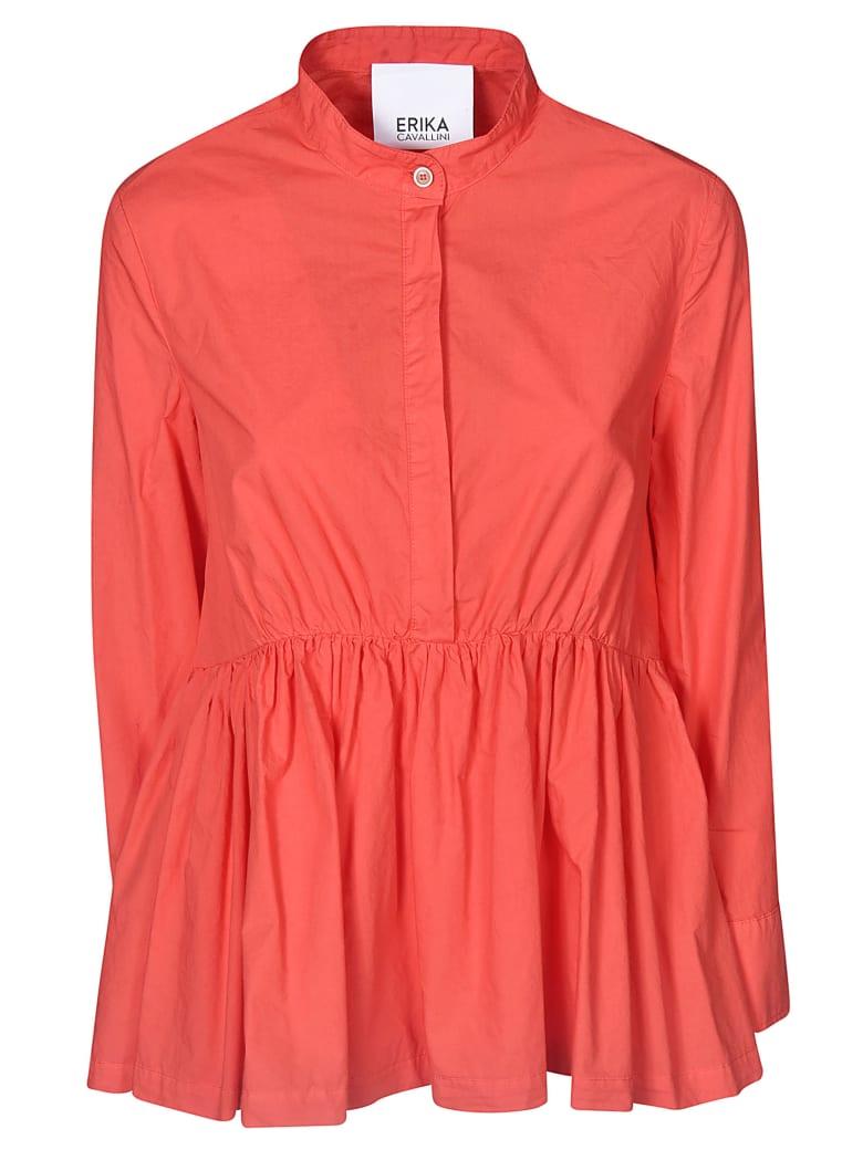Erika Cavallini Ruffled Hem Shirt - Arancio