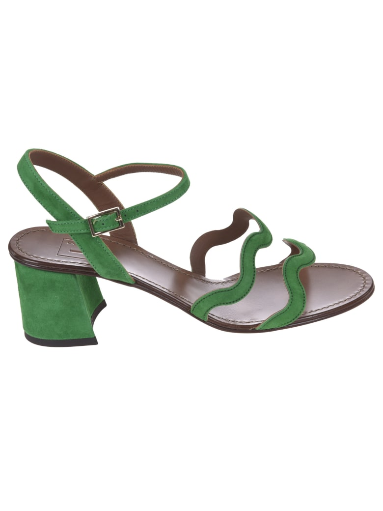 L'Autre Chose Side Buckled Strappy Sandals - Green