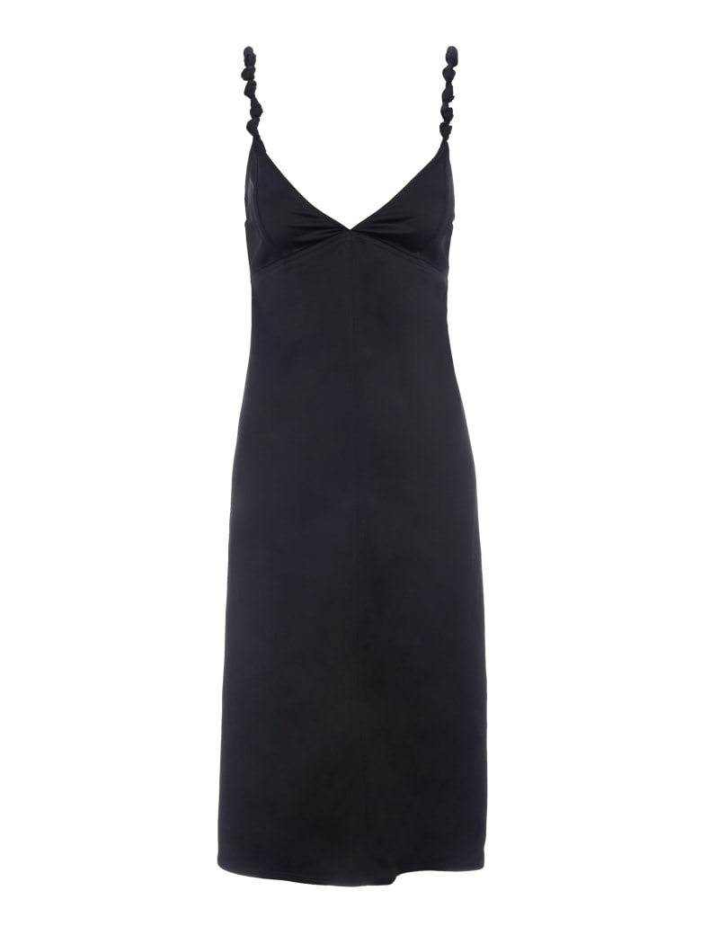 Bottega Veneta Satin Dress - BLACK