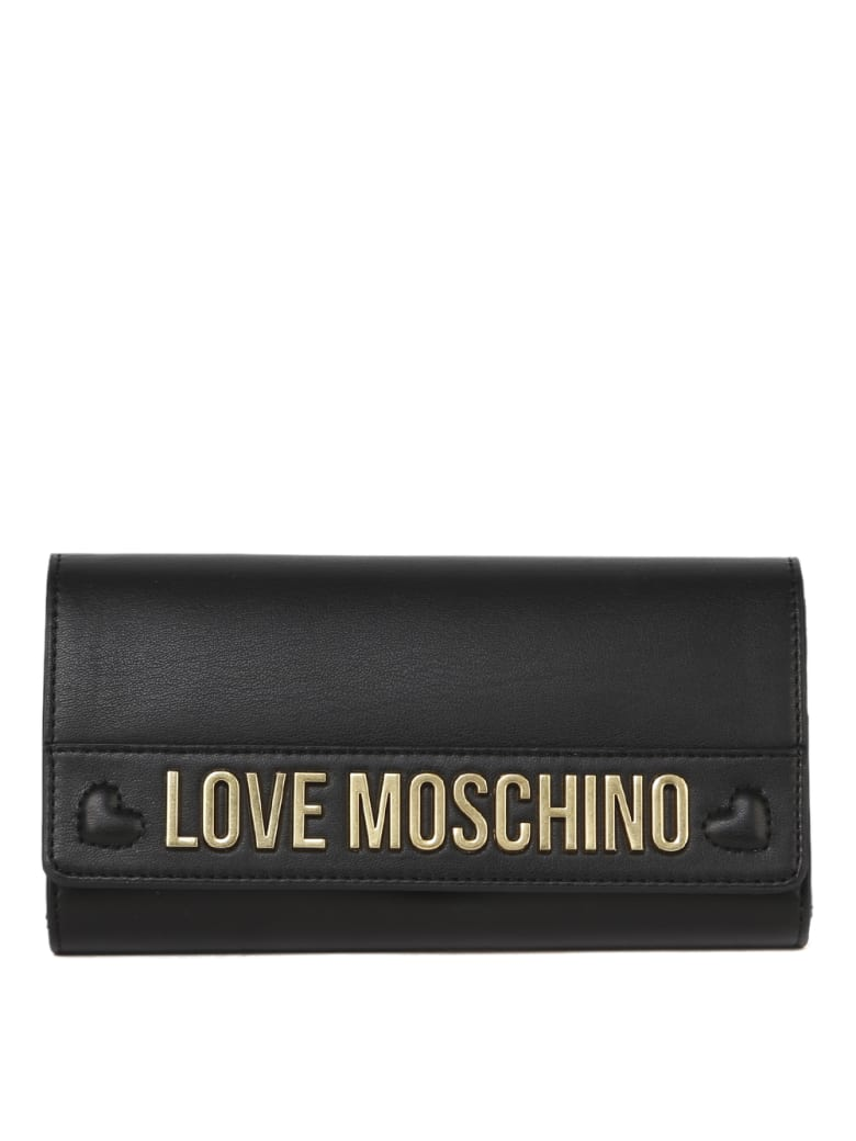 Love Moschino Black Love Moschino Ecoleather Wallet - Black