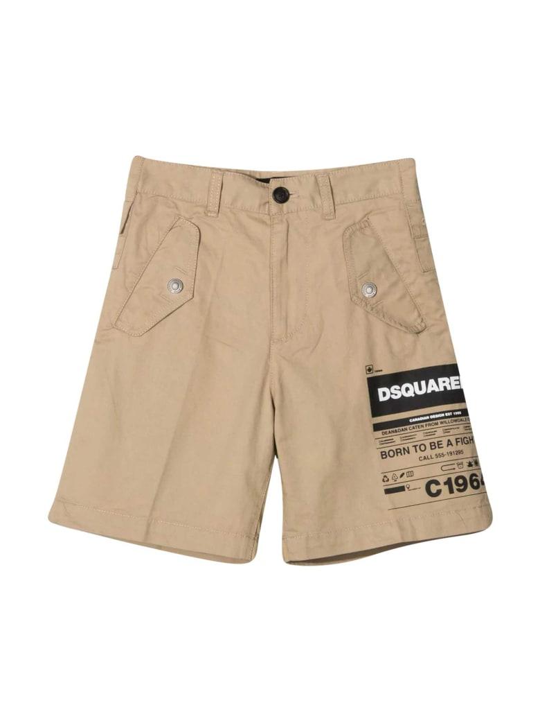 Dsquared2 Beige Shorts - Unica