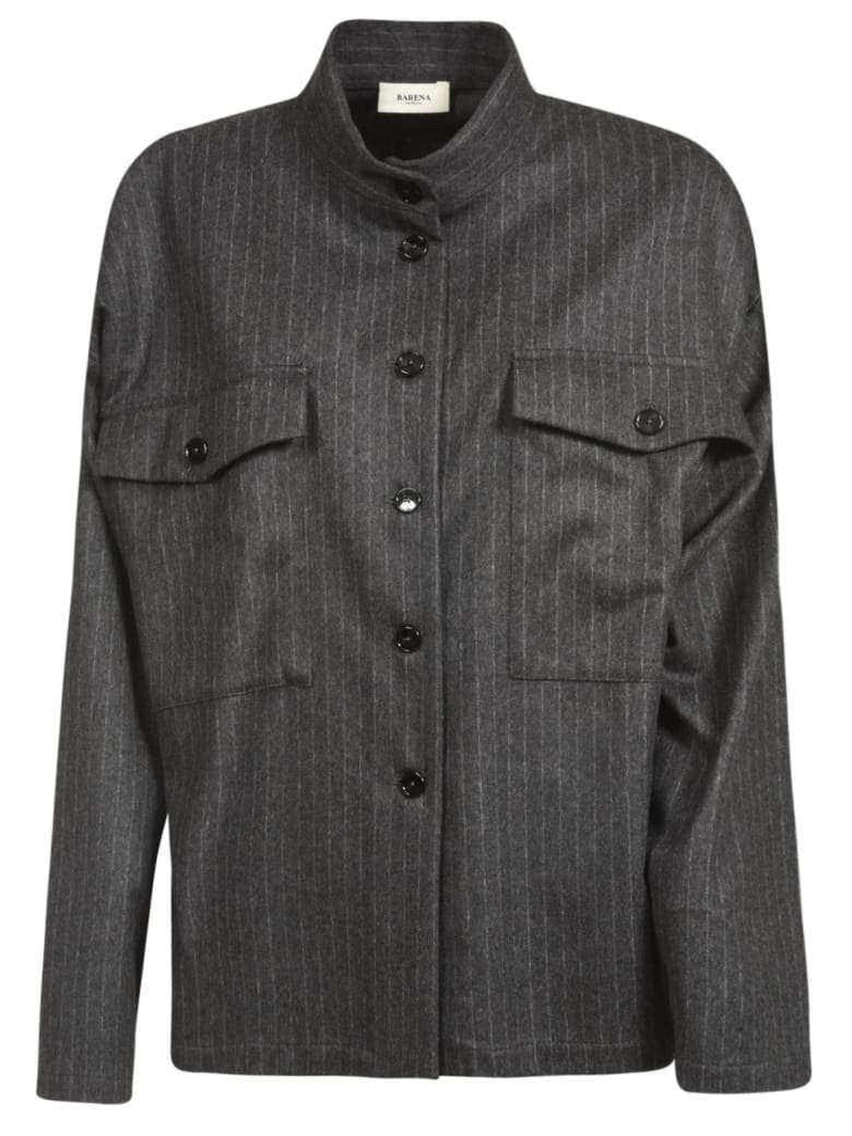 Barena Pinstripe Oversized Shirt - Anthracite