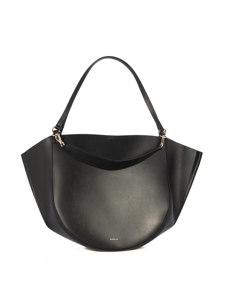 Wandler Double Handle Big Leather Mia Totedoppio Manico - Black Black
